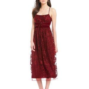 MSSP garnet velvet dress